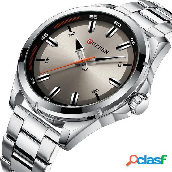 CURREN 8320 Business Style Men Reloj de pulsera de acero