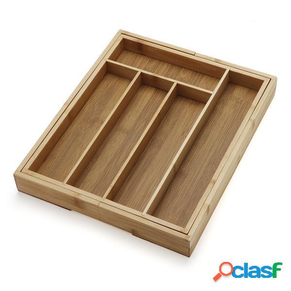Caja de almacenamiento extensible de los cubiertos del