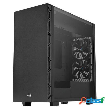 Caja semitorre aerocool flo black - 2*usb 3.0 / 2*usb 2.0 -