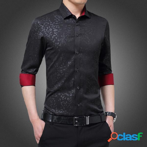Camisa de manga larga para hombre camisa de camisas