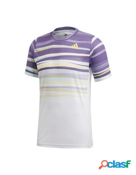 Camiseta Adidas Flft H.rdy Blanco/Morado - Ropa Hombre