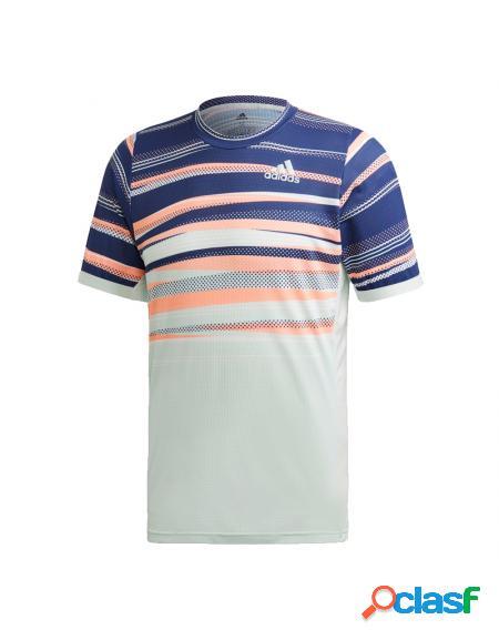 Camiseta Adidas Flft H.rdy Verde Agua/Azul - Ropa Hombre