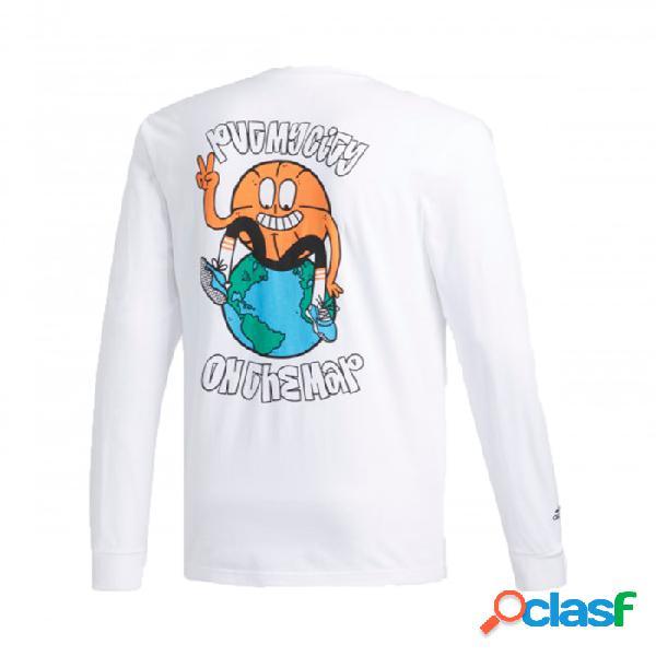 Camiseta Adidas Lil Stripe Ls Blanco M Medium