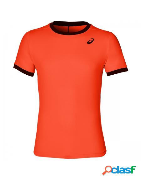 Camiseta Asics Club SS Top Flash Coral - Ropa de padel