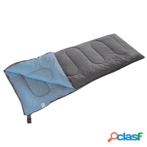 Camp Gear Saco de dormir Comfort Plus 220x90 cm gris y azul
