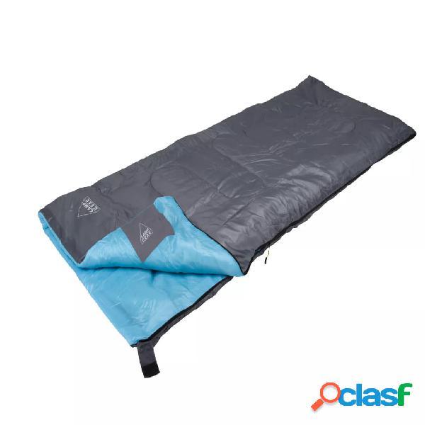 Camp Gear Saco de dormir Festival 190x75 cm gris y azul