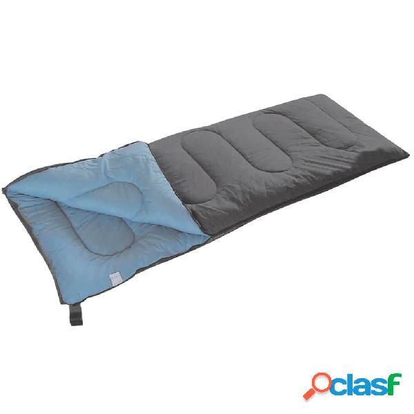 Camp Gear Saco de dormir Populair 200x80 cm gris y azul