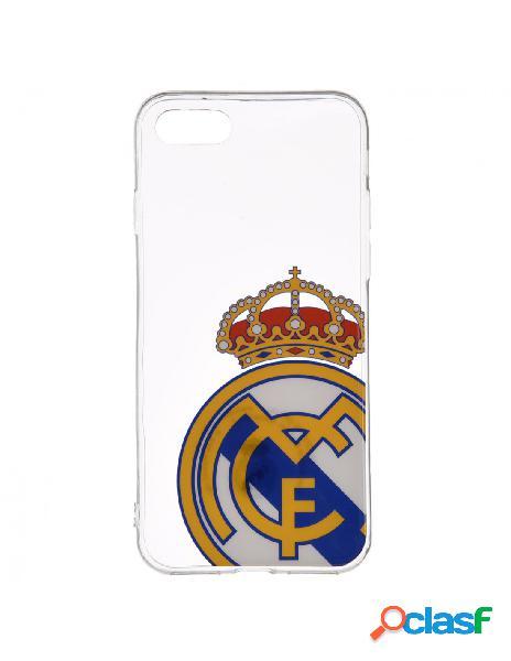 Carcasa Oficial Real Madrid Escudo Transparente para iPhone