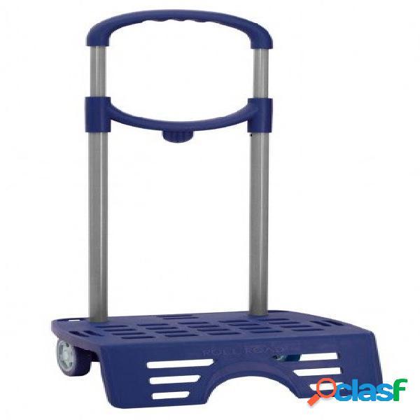 Carro escolar para mochila azul