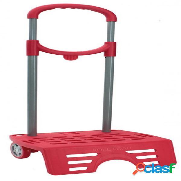 Carro escolar para mochila rojo