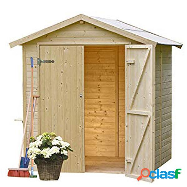 Caseta jardin madera panelada gardiun daniel 4 m2