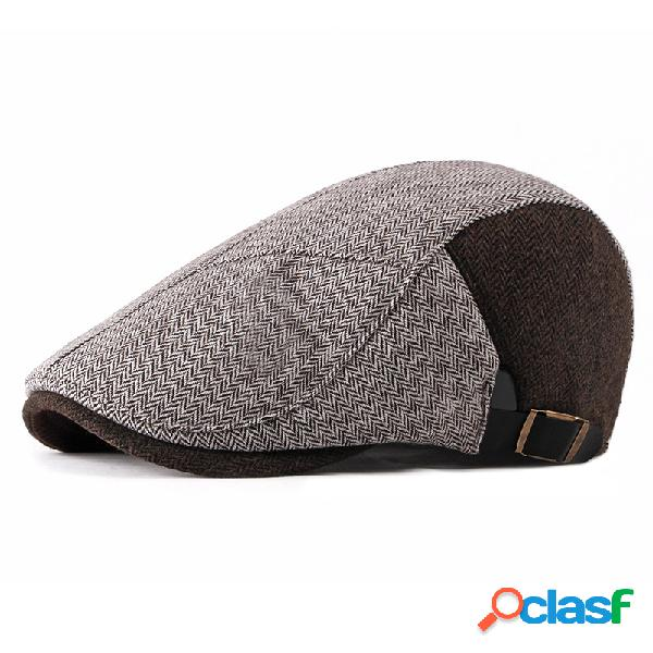 Casual Warm Sombrero Gorros de boina retro británico de