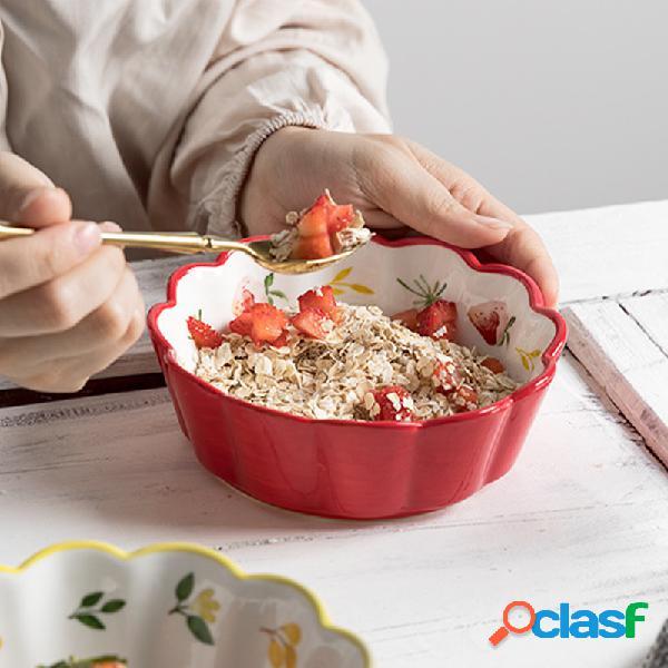 Cerámico Tazón de ensalada de frutas Cute Ins Bowl