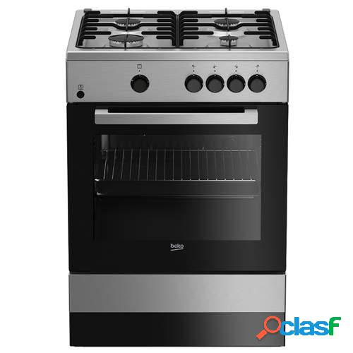 Cocina de gas BEKO FSG62000 DXL - 4 quemadores y Horno de