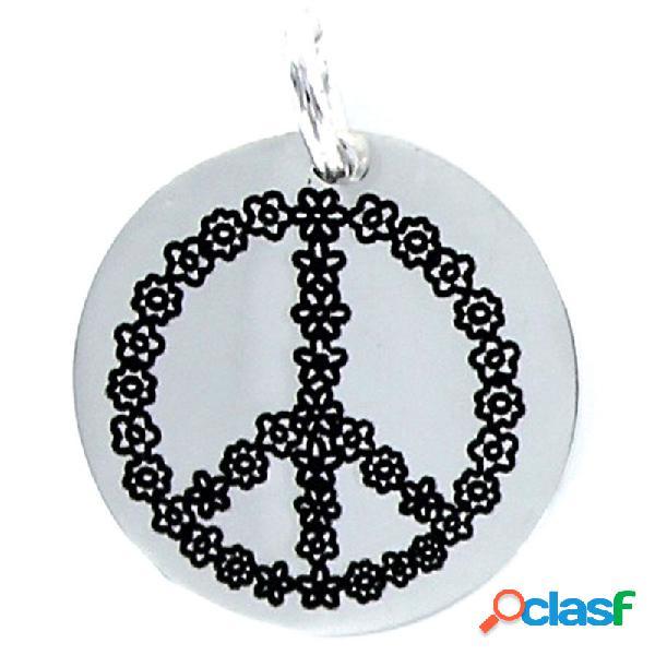 Colgante Plata Mujer Símbolo De La Paz 9092910