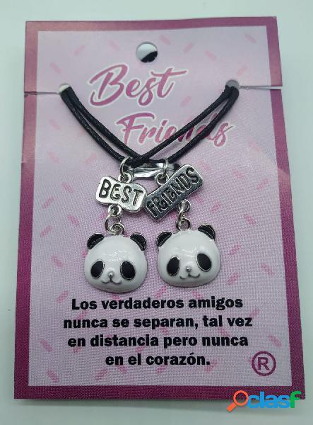 Colgantes best friends Pandas