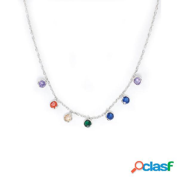 Collar Plata Mujer Chatones Multicolor 9108368