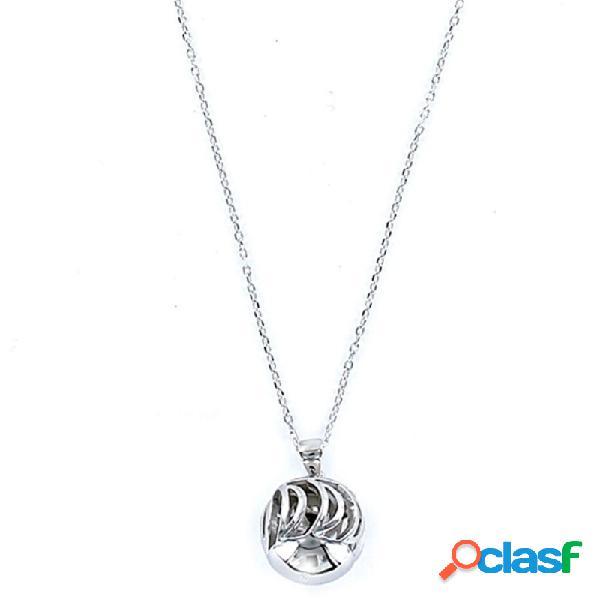 Collar Plata Mujer Llamador De Ángeles 9092755