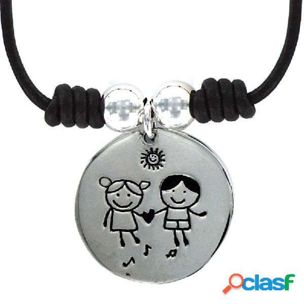 Collar Plata Mujer Niña Y Niño 9087412