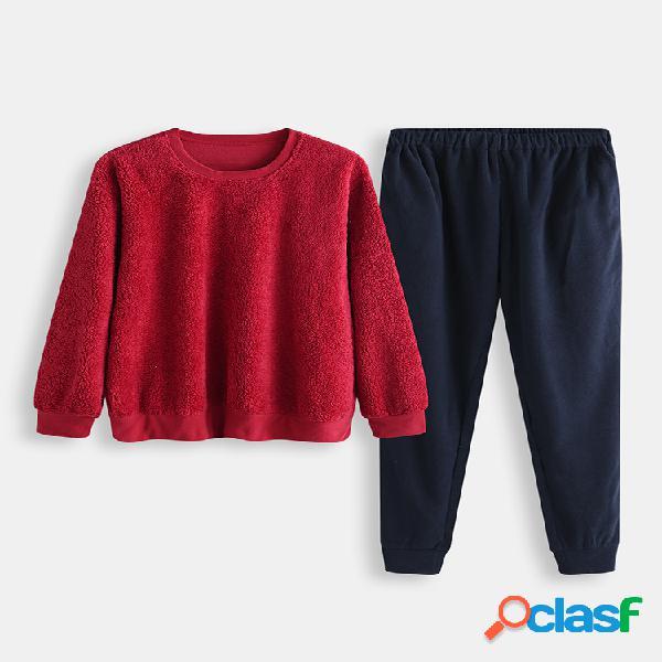 Conjunto de pijamas con forro polar polar para hombres