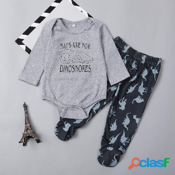 Conjunto de ropa de mameluco para bebés de manga larga con