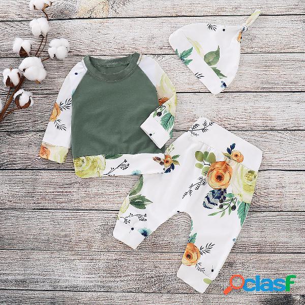 Conjunto de ropa de manga larga para niñas de flores 3