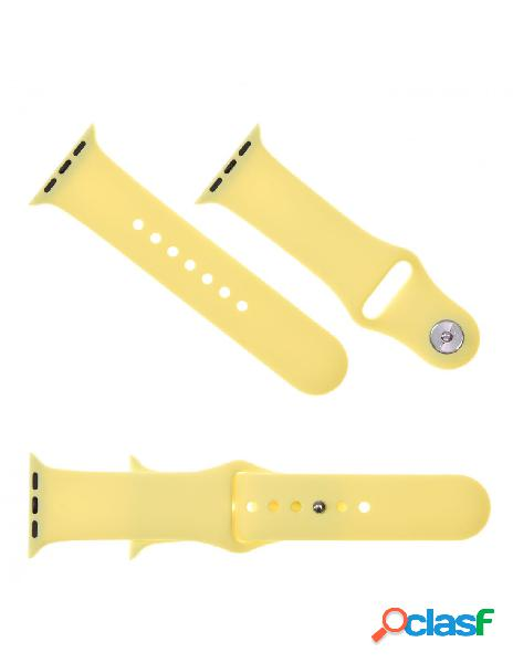 Correa Reloj para Apple Watch 42 mm Amarillo Pastel