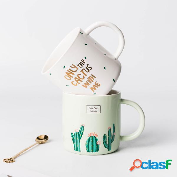 Creativo Cerámico Taza de café Taza de agua Cactus Patrón