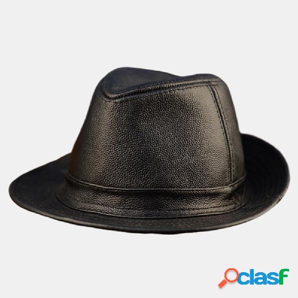 Cuero para hombre Sombrero Piel de vaca Sombrero al aire