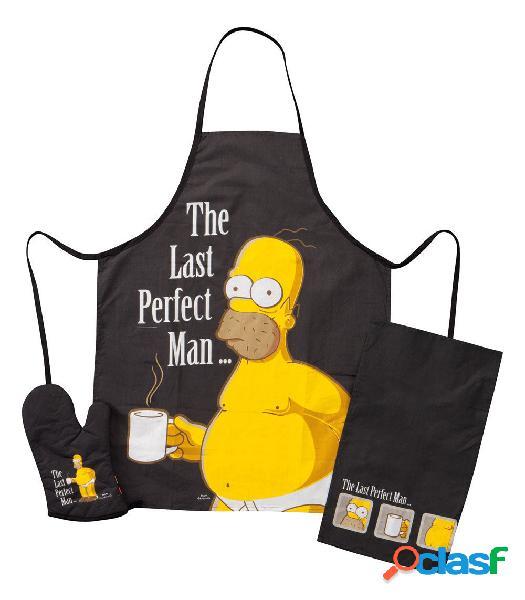 Delantal de cocina y manopla Homer Los Simpsons