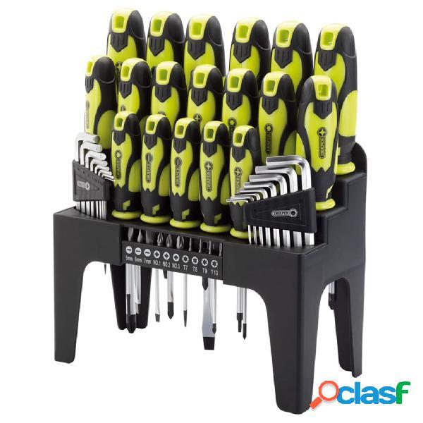 Draper Tools Destornilladores, llaves hex y puntas 44 pzas