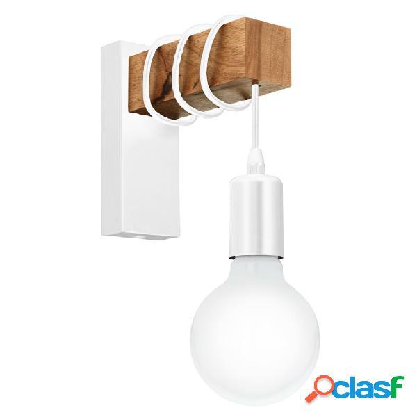 EGLO Lámpara de pared LED Townshend madera 1 bombilla