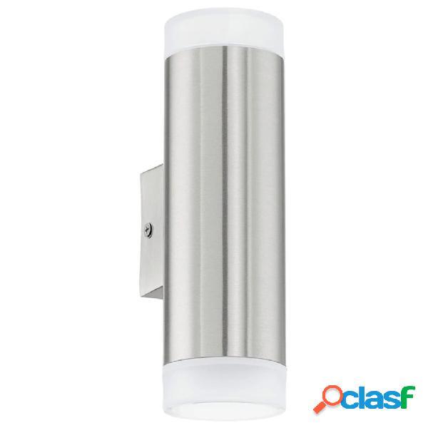 EGLO Lámpara de pared LED exterior Riga 6 W plateada 92736