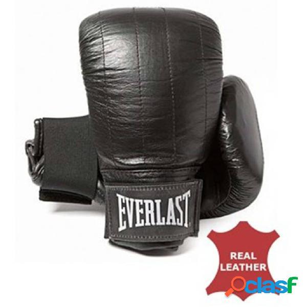 EVERLAST Guantes de boxeo Boston bolso de cuero negro S