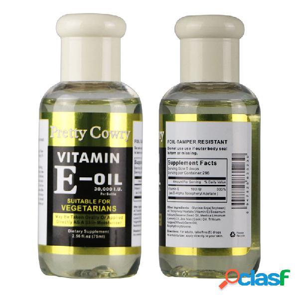 El aceite esencial de la vitamina E que humedece el aceite