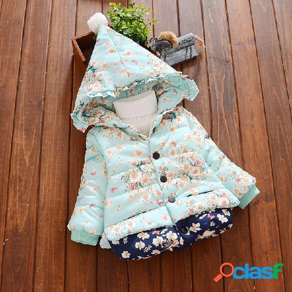 Espesamiento de las niñas Plus Abrigo de algodón con