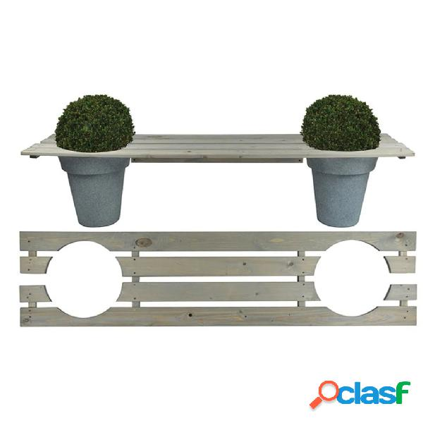 Esschert Design Banco jardinera 180 cm NG71