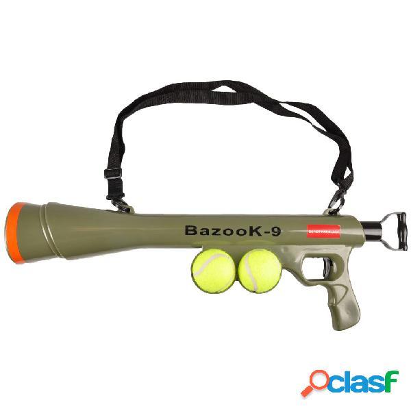FLAMINGO Lanzador de pelotas BazooK-9 con 2 pelotas de tenis