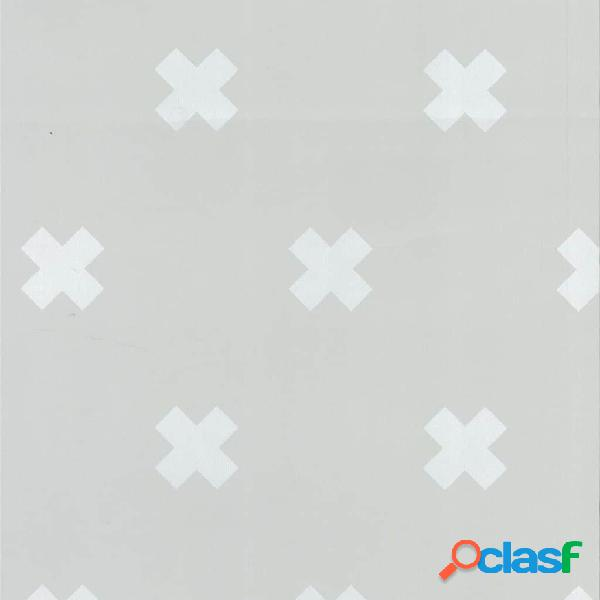 Fabulous World Papel de pared diseño Cross gris y blanco