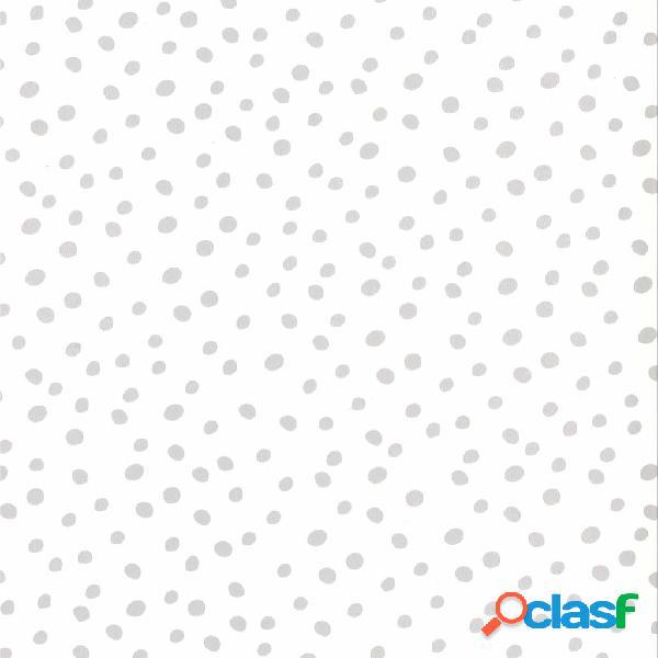Fabulous World Papel de pared diseño Dots blanco y gris