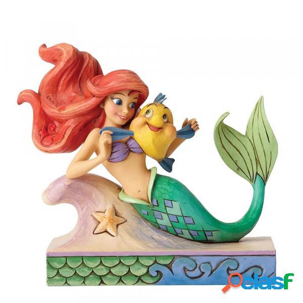 Figura Ariel y Flounder La Sirenita Disney Traditions