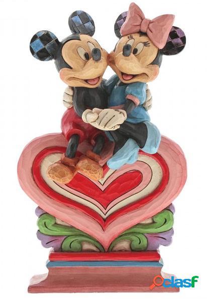 Figura Mickey y Minnie Corazón 22 cm
