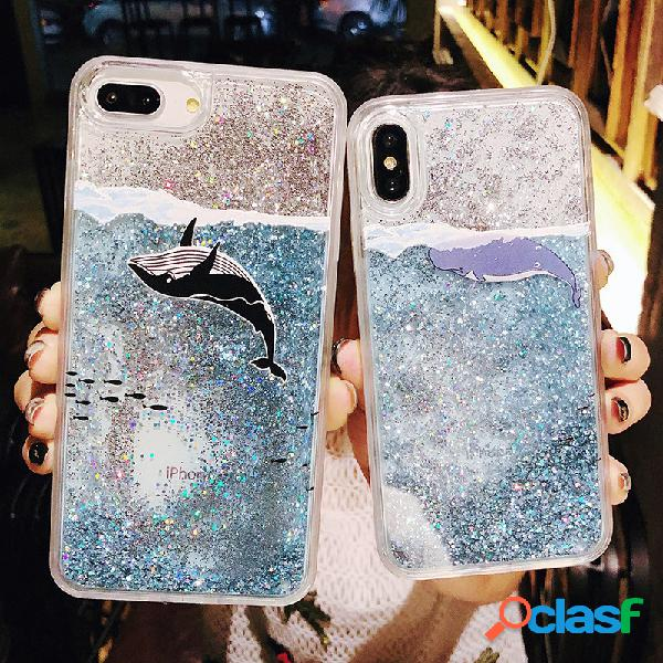Flash Powder Mobile Shell Apple pintado en relieve iPhone