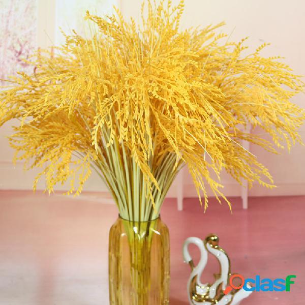 Flores artificiales Accesorios de baile Flor de seda Arroz