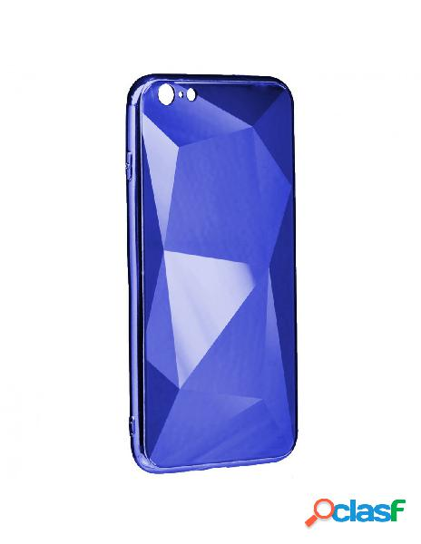 Funda Cristal Diamond Azul para iPhone SE