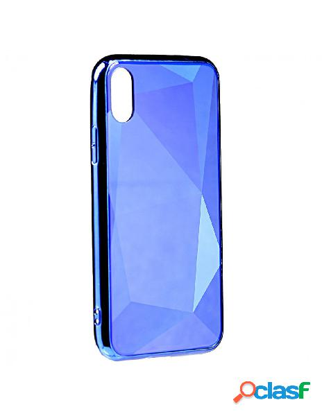 Funda Cristal Diamond Azul para iPhone X