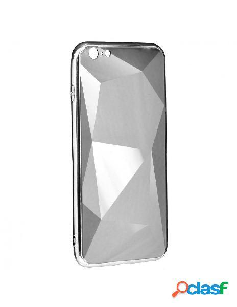 Funda Cristal Diamond Plata para iPhone 6 Plus
