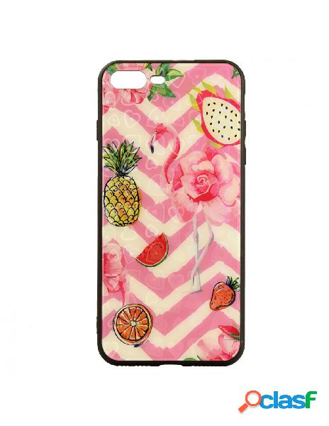 Funda Cristal Piña Flamenco para iPhone 8 Plus