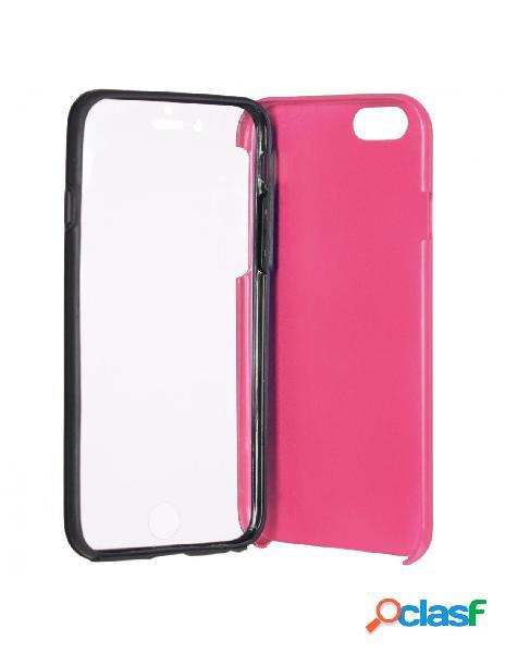 Funda Cromada con tapa Rosa iPhone 6 Plus