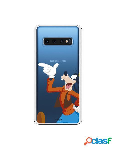 Funda Disney Goofy clear para Samsung Galaxy S10